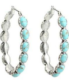 Lucky Brand Oblong Turquoise Inlay Hoop Earring #accessories  #jewelry  #earrings  https://www.heeyy.com/suggests/lucky-brand-oblong-turquoise-inlay-hoop-earring-turquoise/