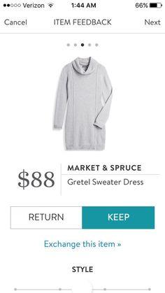 Market & Spruce Gretel Sweater Dress