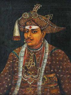Raja Ravi Verma's portrait of Maharaja Serfoji II