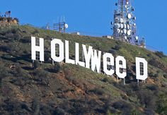 Le panneau Hollywood devient Hollyweed