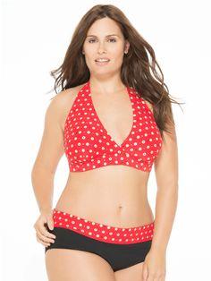 86443db3d73 Precious Dot Plus Size Bikini Top and Bottom Junior Plus Size Swimwear
