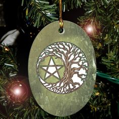 Collectable Tree Pentacle Yule Holiday Ornament/Car Charm