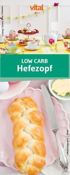 Hefezopf in einer figurfreundlichen Version: Probi Low Carb Meal, High Protein Low Carb, Low Carb Dinner Recipes, Low Carb Desserts, Healthy Recipes, Diet Recipes, Snacks Recipes, Diet Meals, Vegetarian Recipes