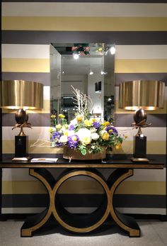2012 Fall Market Trend: Gold detailing on ebony stained console table by Global Views IHFC D220 #hpmkt #stylespotters