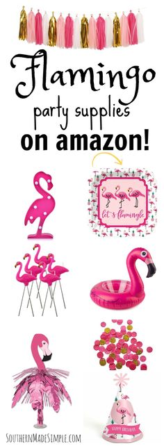 Throw the finest flamingo party of the summer with these fun and festive flamingo party supplies!