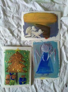Christmas cards set of postcard acrylic art acrylic