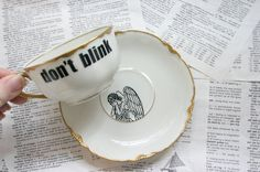 Doctor Who Angel teacup and saucer  http://www.etsy.com/people/geekdetails?ref=ls_profile