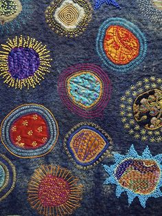 Festival of Quilts UK 2013 (I think this is felt and quilting.both my favourite hobbies!)Festival of Quilts UK 2013 (I think this is felt and quilting.both my favourite hobbies! Hand Embroidery Stitches, Embroidery Applique, Embroidery Patterns, Machine Embroidery, Embroidery Patches, Embroidery Books, Towel Embroidery, Sashiko Embroidery, Embroidery Supplies