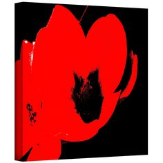 'Hot Blooms II' by Herb Dickinson Painting Print on Canvas