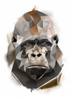 "Beautiful ""Gorilla "" metal poster created by Tomasz Dąbek. Our Displate metal prints will make your walls awesome. Geometric Quilt, Geometric Art, Gorilla Tattoo, Gorilla Gorilla, Origami, Nature Posters, Poster Prints, Art Prints, Animal Posters"