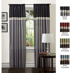 ideas for curtains for my living room, the green brown and cream ones