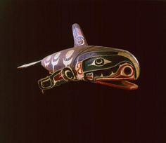 Kwakwaka'wakw articulated killerwhale mask. 19th century. Royal BC museum. @cargocultist