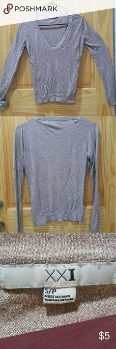 Forever 21 beige v-neck sweater Item: beige v-neck sweater  Brand: forever 21 Size: small  Condition:? very good Forever 21 Sweaters V-Necks