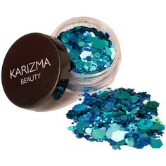 Mermaid Lagoon Glitter Face Body Nails Hair Festival Gems Beauty... (120 MXN) ❤ liked on Polyvore featuring beauty products, makeup, bath & beauty, grey and makeup & cosmetics