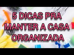 COMO MANTER A CASA ORGANIZADA - YouTube Make It Yourself, Youtube, Blog, Cooking, Houses, Blogging, Youtube Movies