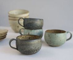 ceramic 호 cups tass pottery kitchen cuisine Pottery Mugs, Ceramic Pottery, Pottery Bowls, Earthenware, Stoneware, Keramik Design, Pottery Classes, Kintsugi, Pottery Studio