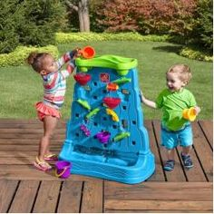 Let your child's imagination run wild with the Waterfall Discovery Wall. This discovery wall features a fun water maze for your child to engage in as he or she scoops water and watch it cascade through spinners, zigzags, and funnels. Toddler Water Table, Sand And Water Table, Water Toys, Water Play, Outdoor Toys, Outdoor Fun, Outdoor Playground, Toddler Toys, Kids Toys