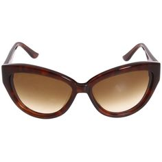 Moschino MO674 (225 AUD) found on Polyvore featuring accessories, eyewear, sunglasses, moschino sunglasses, oval sunglasses, cocktail glasses, heart sunglasses and gradient sunglasses