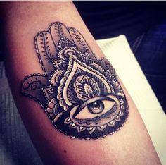 Beautiful hamsa tattoo