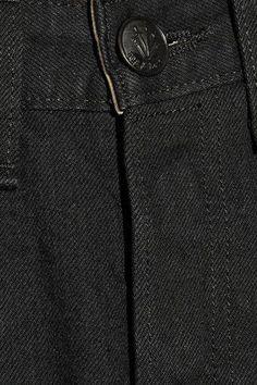 rag & bone - Cropped Mid-rise Straight-leg Jeans - Black