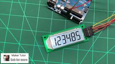 Cool Segment LCD Module 6 Bit 8 Segment - ICStation Arduino Programming, Programming Tutorial, Simple Arduino Projects, Thermometer, Science And Technology, Cool Stuff