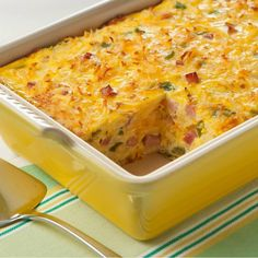 Ingredients: 8 Eggland's Best Eggs 1/2 cup half-and-half cream 1 cup (4 ounces) shredded cheddar cheese 1 cup finely chopped fully cooked ham 1/4 cup finely chopped green pepper 1/4 cup finely chopped onion Instructions: In a large bowl, whisk eggs and cream.