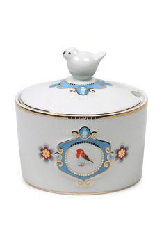 Love Birds Sugar Bowl White