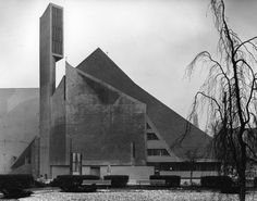 Church St. Norbert (1960-62) in Berlin, Germany, by Fehling + Gogel