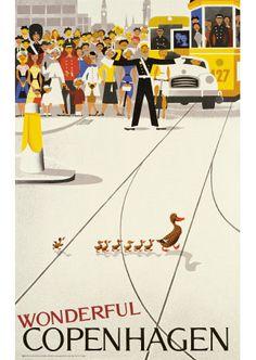 Poster: Wonderful Copenhagen. VIGGO VANGBY (DANISH, 1896-1966).