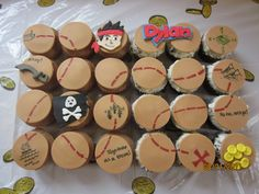 Jake and the Neverland Pirates cupcakes