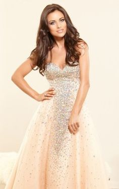 Strapless Embellished Gown by Terani Couture Prom P3093