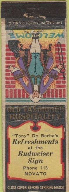 Deborba's Bar Matchbook Cover - Novato, Ca.