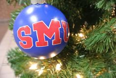 SMU Southern Methodist University Ornament in by nicolehragyil