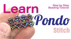 Learn how to do the Pondo Stitch w/ Leah! This step by step beading tutorial covers all the basics! - YouTube Seed Bead Bracelets Tutorials, Beading Tutorials, Beading Patterns, Beaded Necklace Patterns, Beaded Jewelry, Beaded Bracelets, Stretch Bracelets, Bracelet Tutorial, Bead Weaving