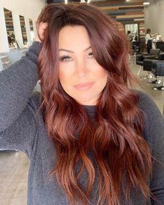 auburn hair 37 2019 Red Hair Trend You Need to Try red hair, hair color, hair style, orange hair Mens Hairstyles Thin Hair, Pretty Hairstyles, Hairstyle Ideas, Wedding Hairstyles, Hairstyles 2016, Natural Hairstyles, Easy Hairstyles, Fall Hair Colors, Brown Hair Colors