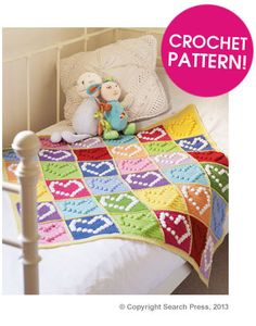 Create a stunning blanket with this FREE Bobble Heart Granny Square Pattern | Deramores EXPIRED