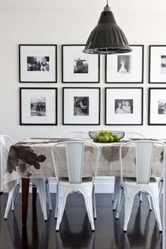 Nice wall photo display in dining room - Living With Kids: Kate Oppenhuis