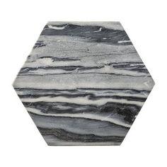 丹麦Bloomingville大理石六边形托盘砧板芝士板