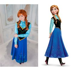 Anna Elza Frozen Disney Cosplay Dress Costume Princess Russia ($600) ❤ liked on Polyvore featuring costumes, costume, disney, dresses, grey, women's clothing, role play costumes, ladies costumes, princess costume and womens princess halloween costumes