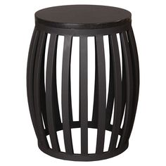 Meridian Black Finish Metal and Granite Stool/Table