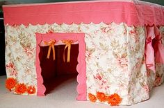 I am definitely making this for babyl! sheets/pillowcases/skirt to make a table top playhouse