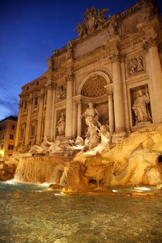 This fountain in Rome is beautiful! One of my favorite stops on my Italy trip