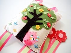 Felt Hair clip holderOwl hiding TreeGreat Baby by MikiStitch, $35.99