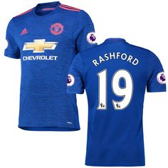 Marcus Rashford Manchester United adidas 2016/17 Away Authentic Jersey - Royal - $144.99