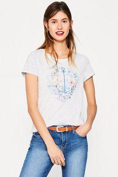 T-shirt à imprimé brillant 100 % coton