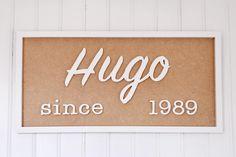 Board with name and year of birth - handmade board - create you own board - present idea - tableau prénom et année de naissance fait main de la boutique FrenchyVintageStore sur Etsy