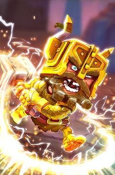 Once you defeat the 'Root of All Evil' you will receive the unlock for Dhaegon Stonecrusher ! This is the only way to earn this Hero. Dungeon Boss, Iron Man, Superhero, Fictional Characters, Art, Art Background, Iron Men, Kunst, Performing Arts