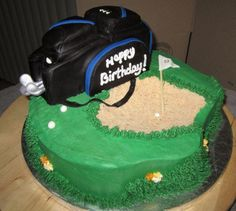 A golfers birthday cake