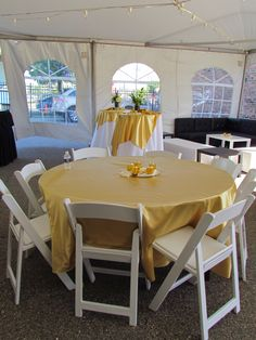 Gold Satin guest table at a wedding at Scarab Club- Downtown Detroit - Summer of 2014