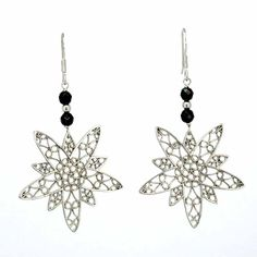 Onyx and silver earrings - $64.90